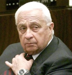 ARIEL SHARON GOES 100% APESHIT