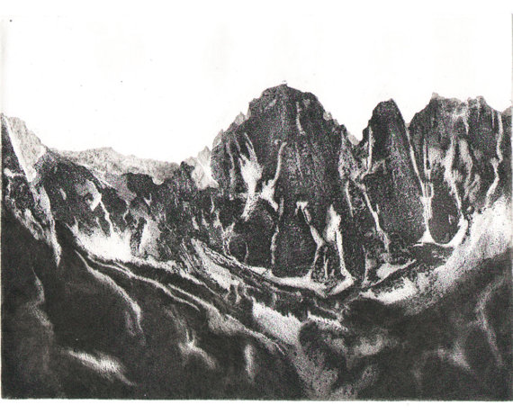etchings art photos mountains pretty