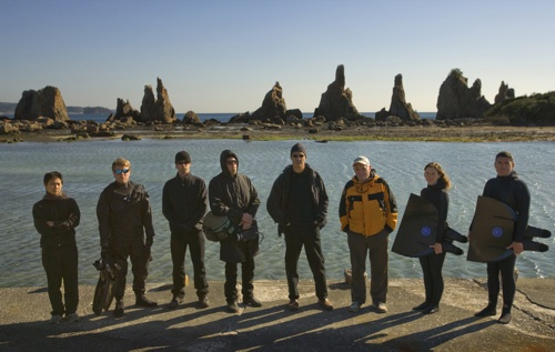 The Cove Crew on the Wakamaya Coast near Taiji