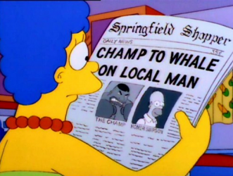 simpsons boxing images review episode