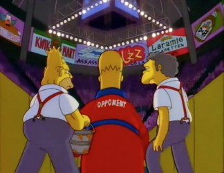 simspons boxing episode the homer they fall