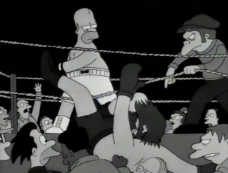 homer raging bull simpsons dempsy
