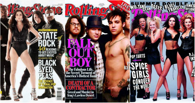 worst rolling stone magazine covers fall out boy spice girls black eyed peas