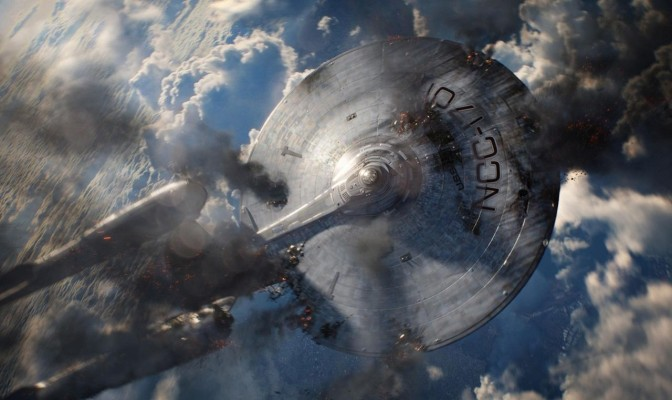 star trek into darkness enterprise ship crashing jj abrams new remake reboot