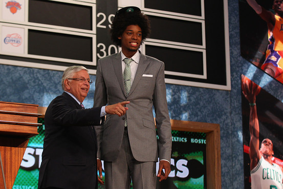 NBA 2103 draft breakdown review Lucas Bebe Nogueira david stern suit hat stage handshake