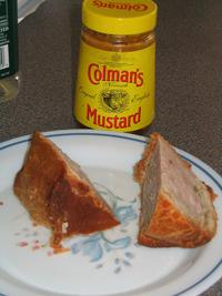 pork pie with colemans mustard food english
