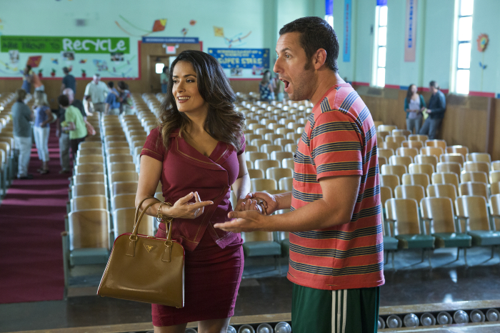 grown ups 2 couple selma hayek adama sandler theater still movie review