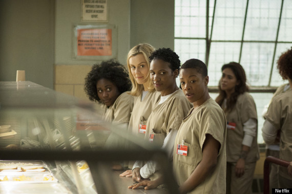 orange is the new black cafeteria black characters piper