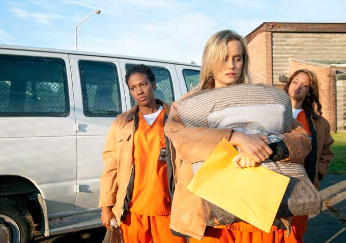 orange is the new black bus van piper new girl prison netflix movie televison