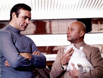 james bond you only live twice james shown sean connery cat villian doctor evil original villain