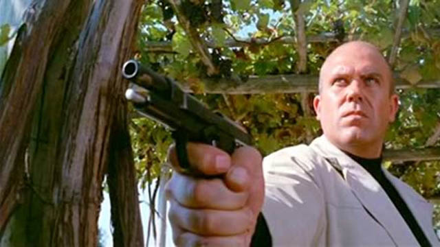 calibur 9 nine caliber bald action gun movie film still a