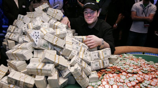 jamie gold wsop world series of poker winner cahs pile chips cash money stacks