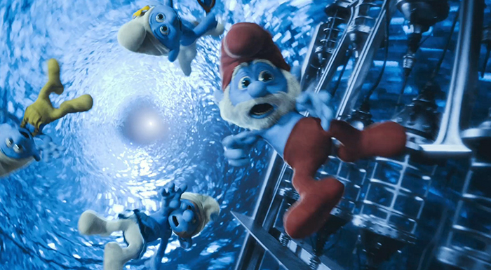 smurfs 2 time warp trippy papa smurf cgi cg image screencap screenshot