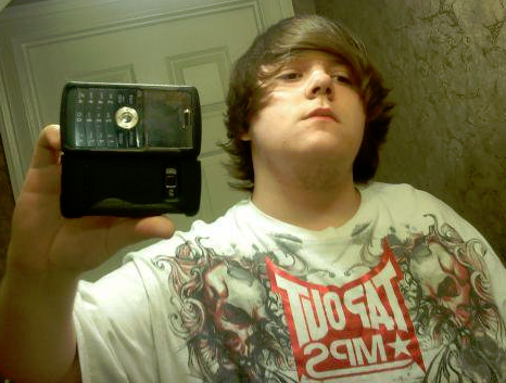 tapout selfy lame kid nerd tough guy