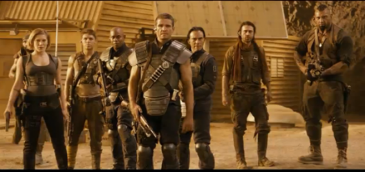 Hi. We'll be your assorted mercenaries for the day. We will begin dying every five minutes in 10 minutes.