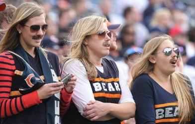 nfl bears girls fans female ditka women