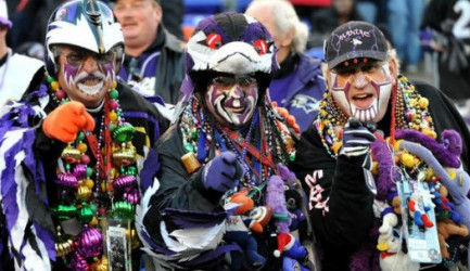 nfl stuffed animal baltimore ravins cray fans zone super bowl