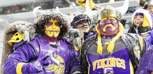 nflVIKINGSFANS vikes vikings fans insane funny goofy dressed up costumes football