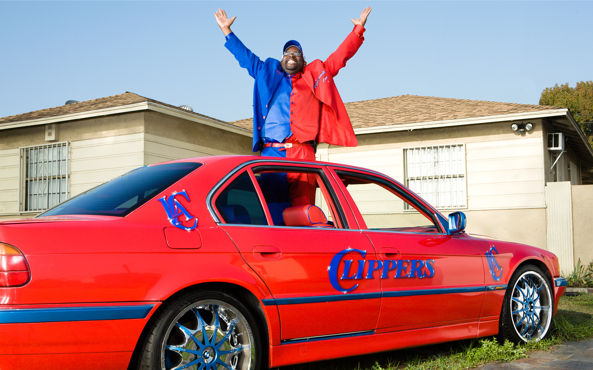 nba clipper darell daryl funny car fans super