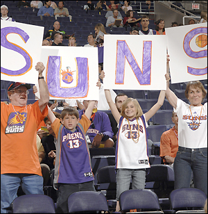 nba suns basketball fans cute kids children family