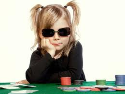 kid littel girl playing poker online gambling cash controversy money deposit