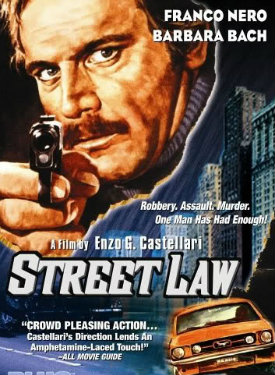 italian action cop police movie poster street law franco nero barbera bach