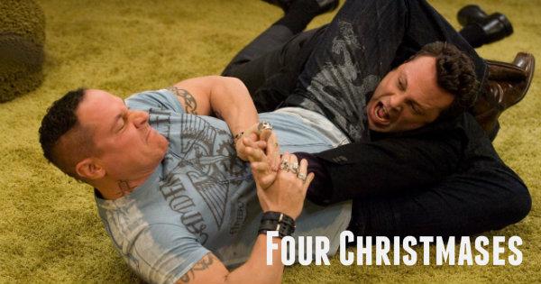 four christmases poster logo figure four bjj wrestling funny vinve vaughn