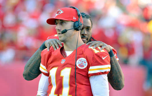 nfl alex smith shoulder rub kansas city chiefs gay funny picture