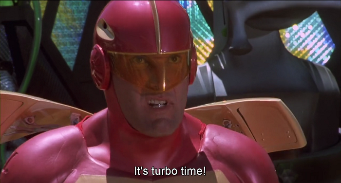 jingle all the way it's turbo time turbo man cap grab