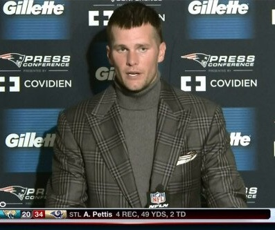 nfl tom brady douche douchebag nerd hair jacket outfit gay
