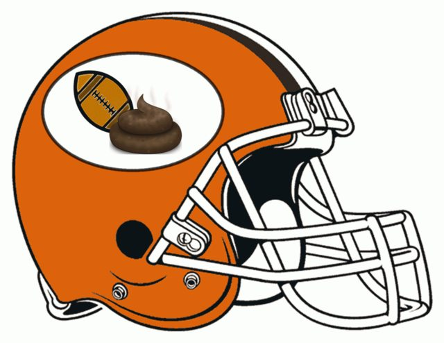 cleveland browns shit poop crap helmets