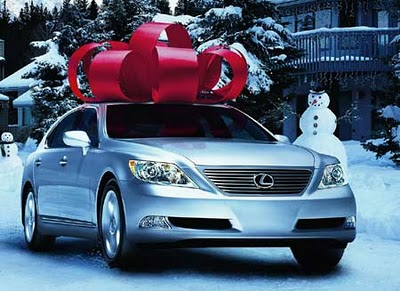 christmas greed waste lexus car present gift