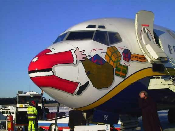 santa claus funny airplane christmas sucks I hate christmas