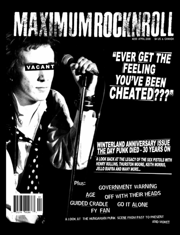mrr maximumrocknroll. maximum rocknroll punk