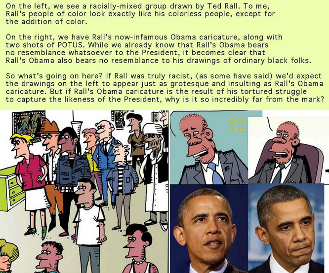 ted rall racist political correctness pc controversy obama daily kos sketch