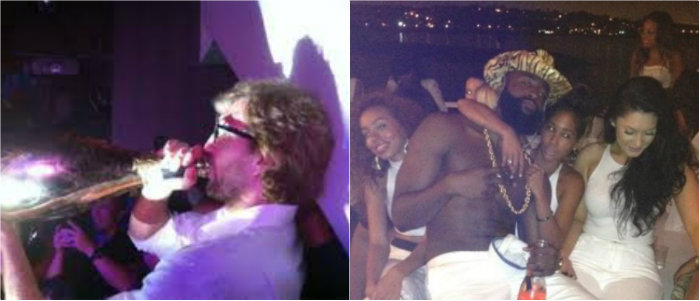 dirk nowiski james harden nba a players party groupies drink club champagne live large nba cares