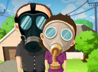 preppers doomsday gasmask cartoon drawing