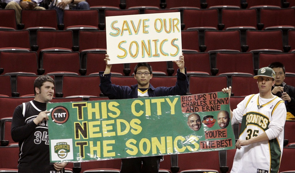 seattle sonics fans sad protest sign