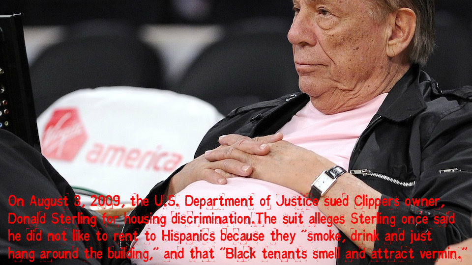 donald sterling racist law suit crook scumbag discrimination