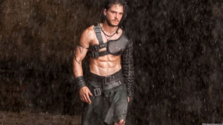 Gaze upon the glistening abs that conquered a Roman city.