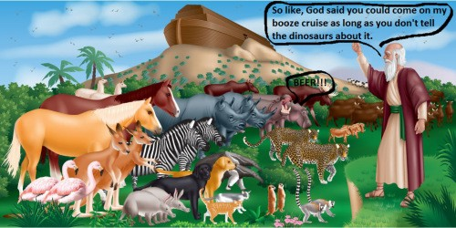 L. Ron Mexico Discovers Noah's Diary He Kept on the Ark and Translates it for the Internet.