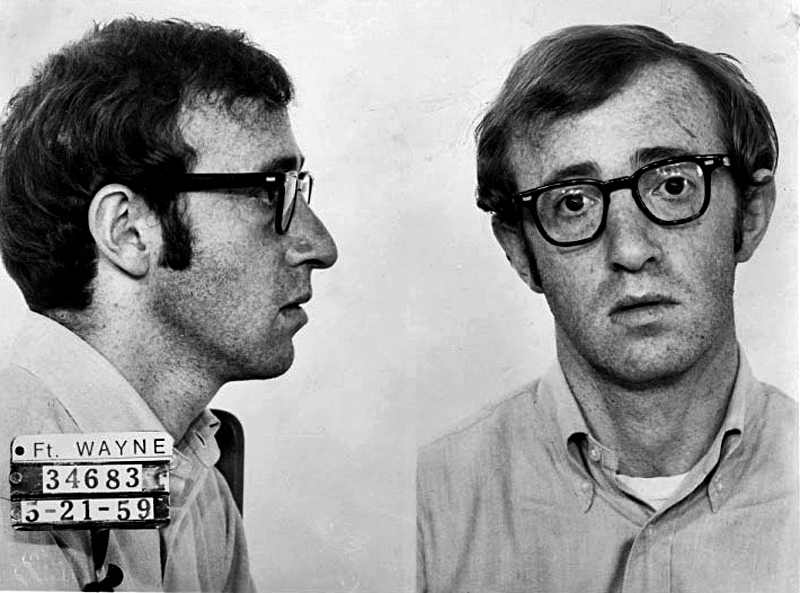 woody allen mugshot guilty