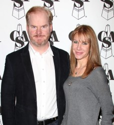 Jim Gaffigan and his wife
