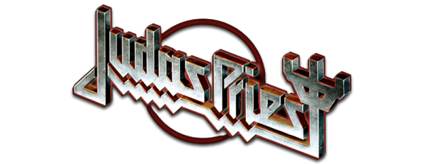 judas priest white logo