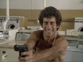 starsky with a gun shirtless 70s