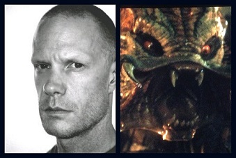 Brian Steele as Predator, who now looks like a fish or lizard, but with an EXTREME mouth.