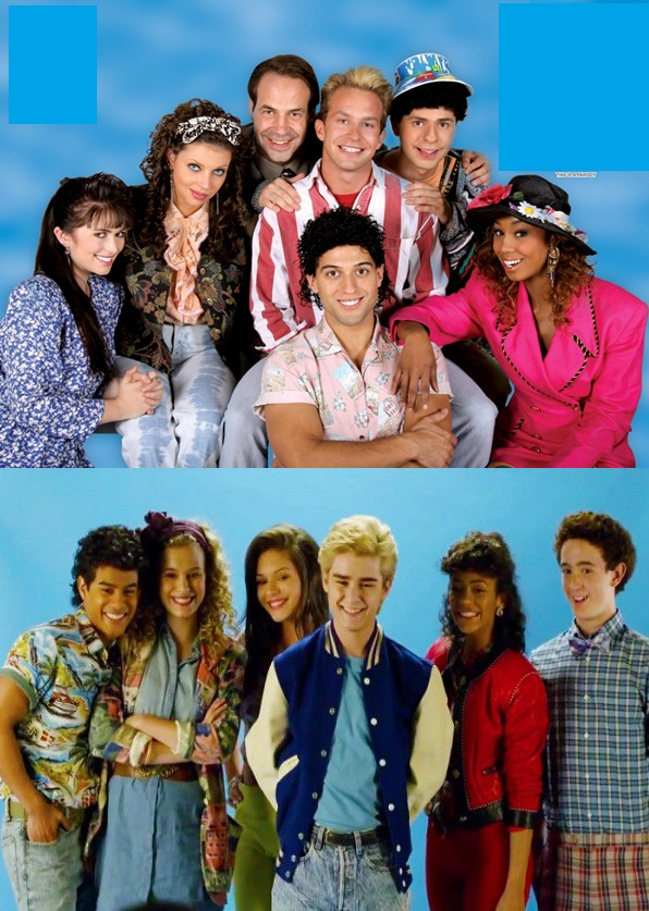 One of these is a saved by the bell porn parody and the other is from the lifetime movie, can you guess which is which?