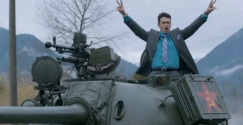 "James Franco in the music video for The Lonely's Islands follow up song: ""I'm on a Tank"""
