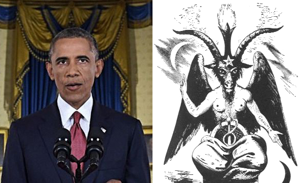 Image result for obama terrifying horns