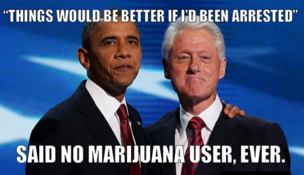clinton obama weed pot marijuana dc meme legalized pot hypocrites drug war